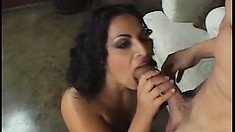 Gorgeous girl with a great rack enjoys some hardcore banging