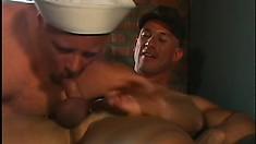 Two gay sailors exchange oral pleasures before enjoying rough anal sex