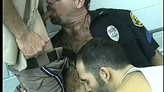 Dirty cops beat each other's tight asses with their meaty sticks