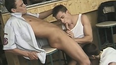 Army dude fucked up and now he has to take a couple cocks in his butt